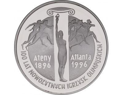 10 zł – 100 lat nowożytnych Igrzysk Olimpijskich (1896 - 1996)