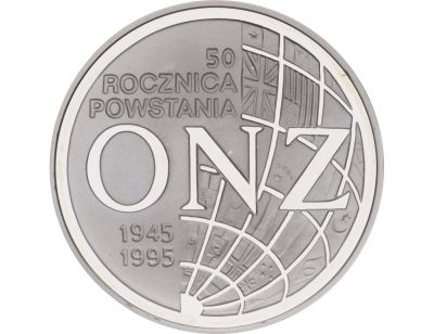 20 zł – 50. rocznica powstania ONZ
