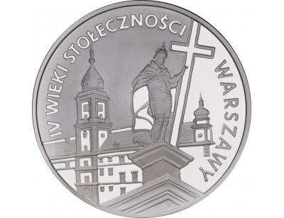 20 zł – IV wieki stołeczności Warszawy (1596-1996)