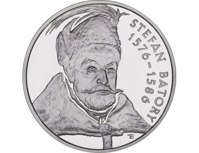 10 zł – Stefan Batory (1576 – 1586) popiersie