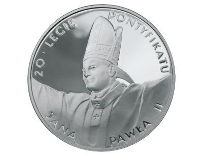 10 zł – 20-lecie pontyfikatu Jana Pawła II