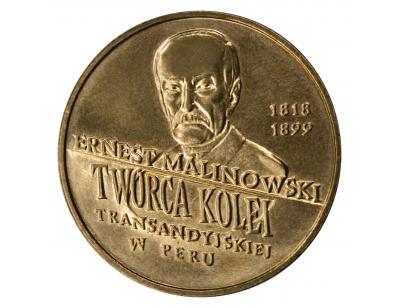 2 zł – 100. rocznica śmierci Ernesta Malinowskiego (1818-1899)
