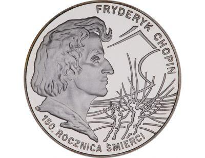 10 zł – 150. rocznica śmierci Fryderyka Chopina