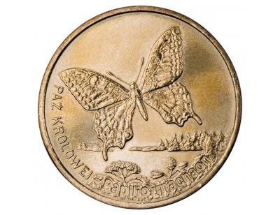 2 zł – Paź Królowej (łac. Papilio machano)