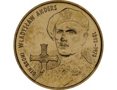 2 zł – Generał broni Władysław Anders (1892-1970)