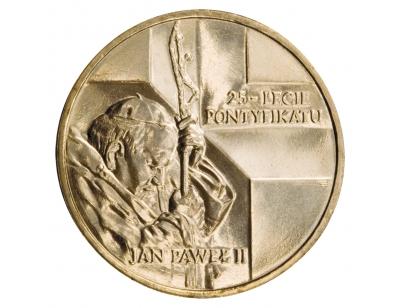 2 zł – Jan Paweł II – 25-lecie pontyfikatu