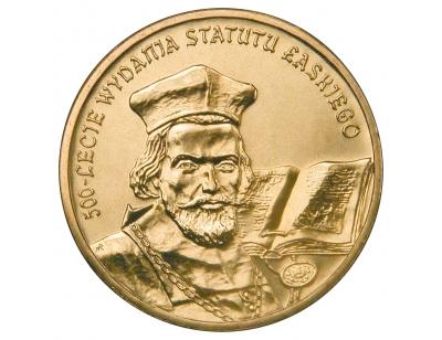 2 zł – 500-lecie wydania Statutu Łaskiego