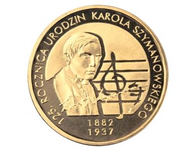 2 zł – 125. rocznica urodzin Karola Szymanowskiego (1882-1937)