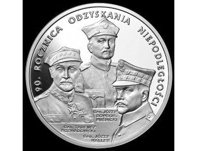 20 zł – 90. rocznica odzyskania niepodległości