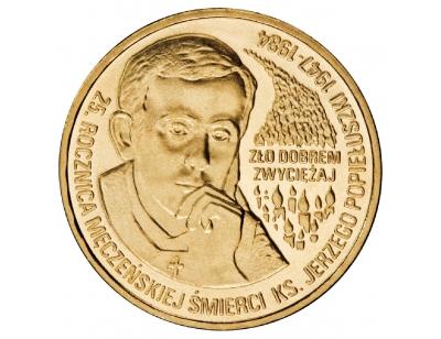 2 zł – 25. rocznica męczeńskiej śmierci księdza Jerzego Popiełuszki