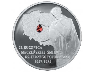10 zł – 25. rocznica męczeńskiej śmierci księdza Jerzego Popiełuszki