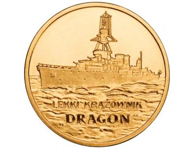"""2 zł – Lekki krążownik """"Dragon"""""""
