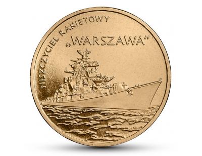 """2 zł – Niszczyciel rakietowy """"Warszawa"""""""