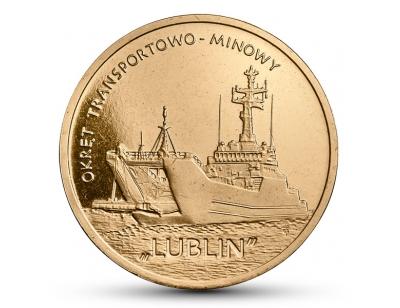 """2 zł – Okręt transportowo-minowy """"Lublin"""""""