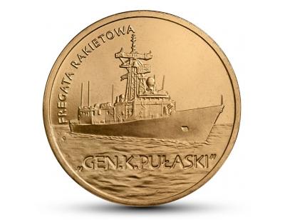 "2 zł – Fregata rakietowa ""Gen. K. Pułaski"""