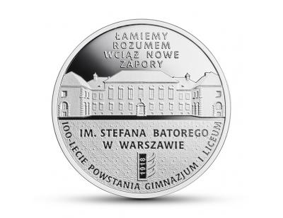 10 zł - 100-lecie powstania Gimnazjum i Liceum im. Stefana Batorego w Warszawie